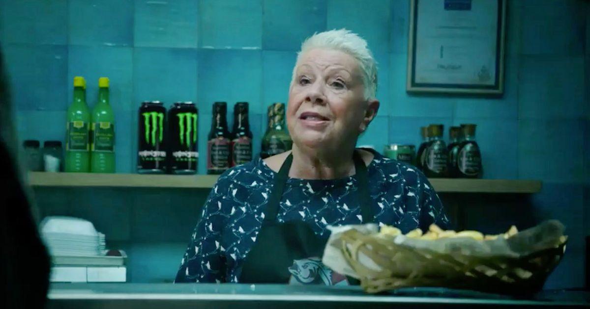 Yes, EastEnders' Big Mo is in the new Hellboy trailer brandishing a machine gun