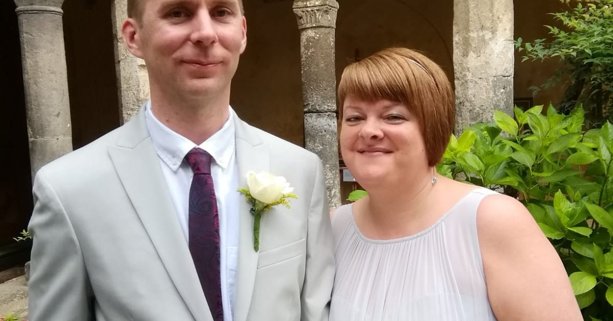 Woman who had brain 'uncorked' from her spine defies odds to have dream wedding