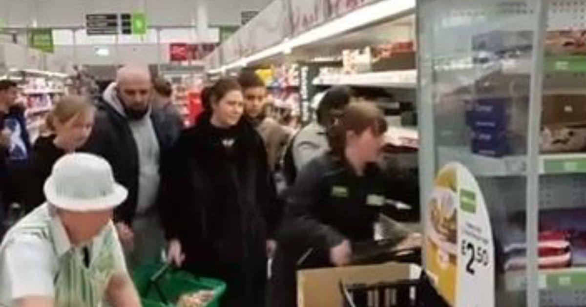 Asda shoppers scramble on floor for reduced food in scenes 'like the apocalypse'
