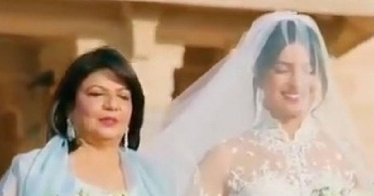 Priyanka Chopra wears 75 foot veil in decadent wedding ceremony