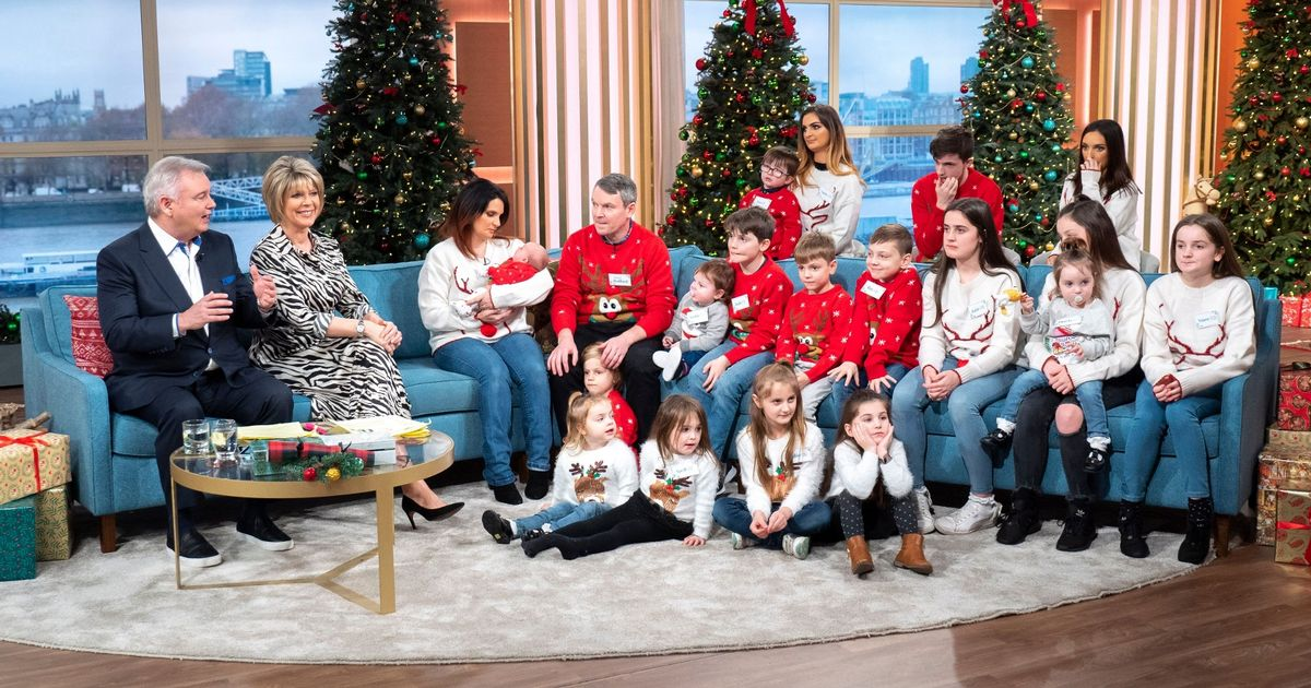 Britain's biggest family show off their 21st child on This Morning