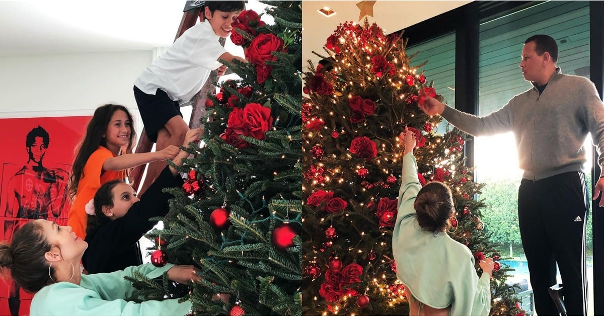 Aw! Jennifer Lopez and Alex Rodriguez Got the Family Together to Deck the Halls