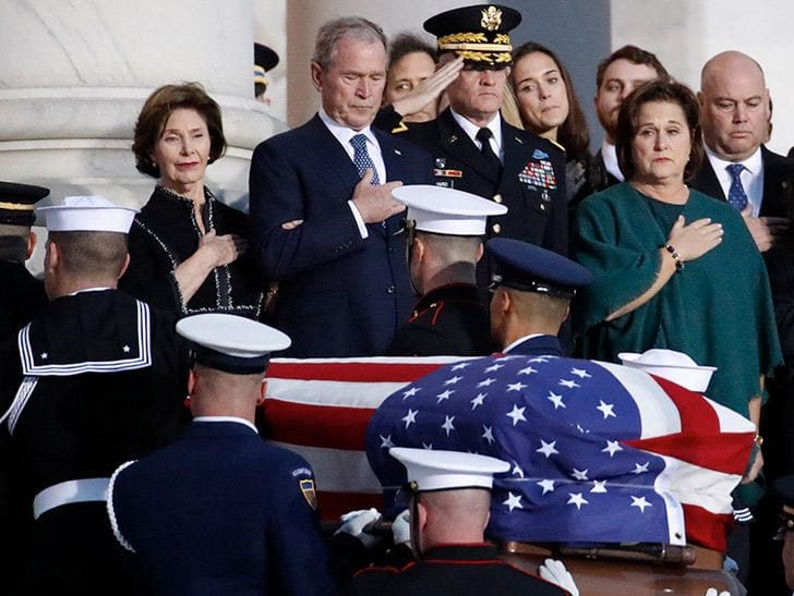 George H.W. Bush's State Funeral Draws White House, Congress and SCOTUS Luminaries