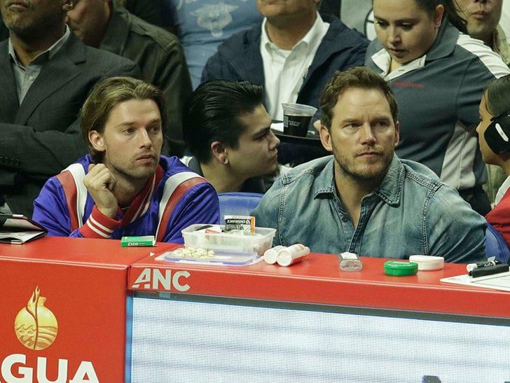 Chris Pratt & Patrick Schwarzenegger Bro Out at Clippers Game