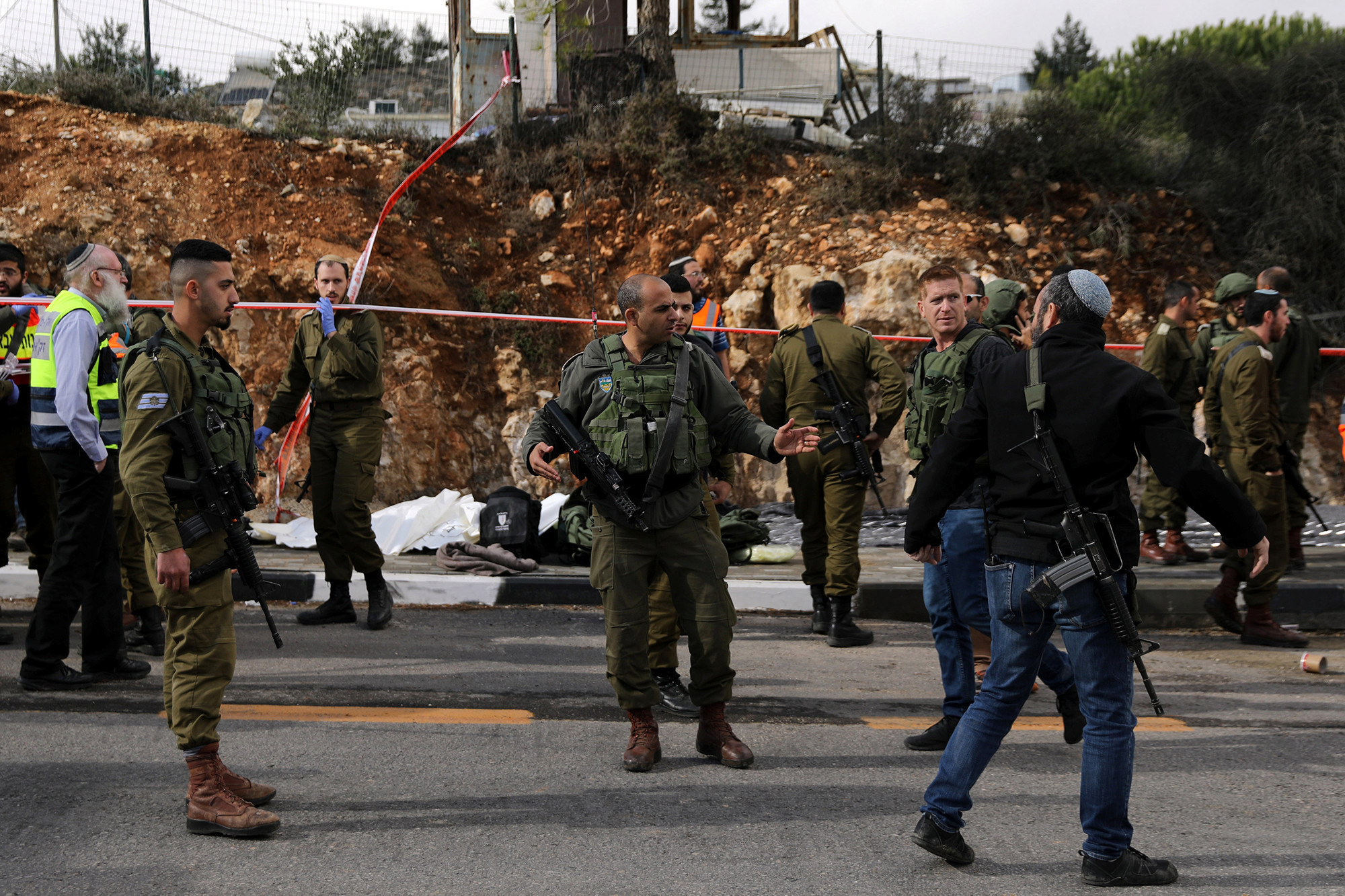 Palestinian wanted for killing two Israelis outside West Bank settlement