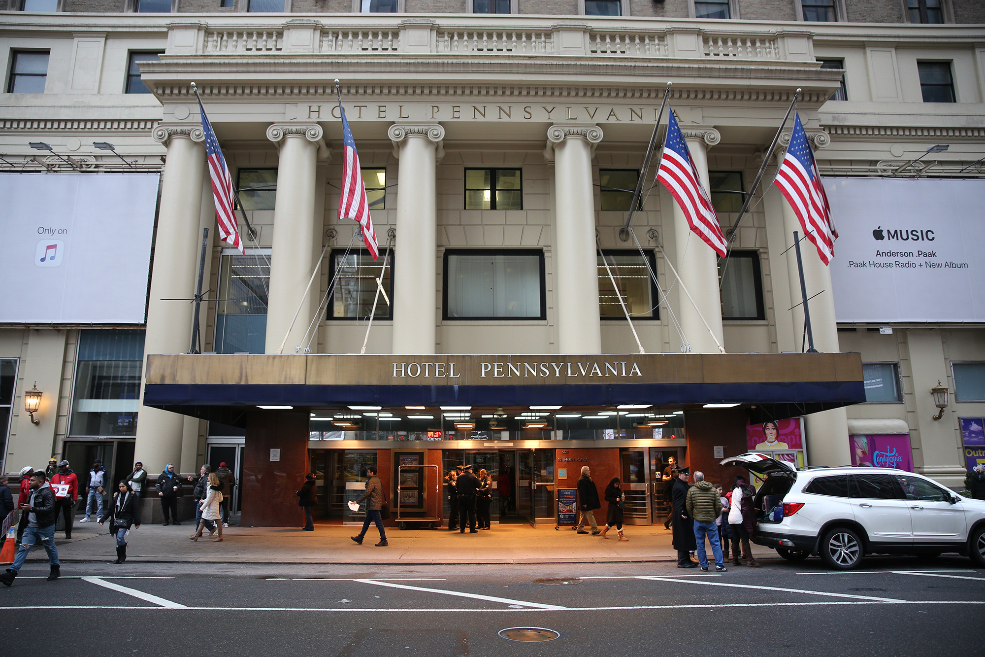 Baby dies after being found unconscious in Hotel Pennsylvania