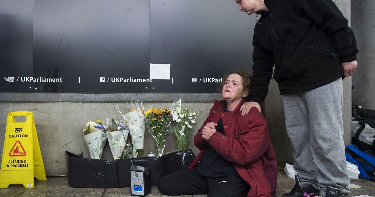 Rough sleepers mourn death of friend as 'shameful' UK statistics revealed