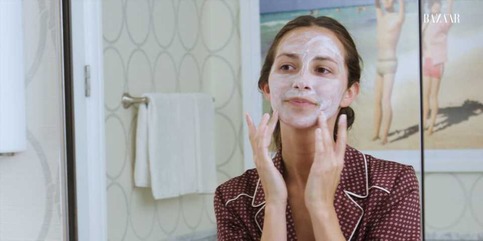 Watch Arielle Charnas' Nighttime Skincare Routine