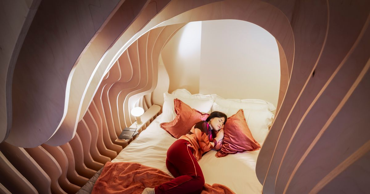 Boutique hotel's bedrooms designed like womb will make you sleep like baby
