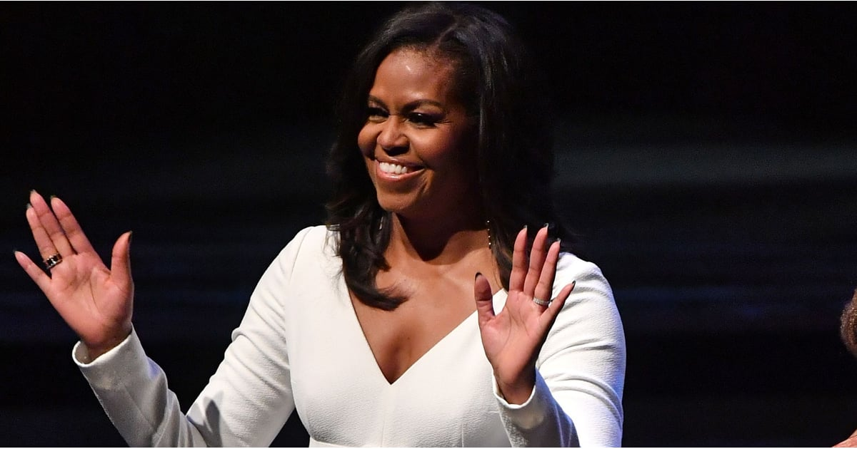 Michelle Obama's White Jumpsuit Is So Flattering For the Holidays
