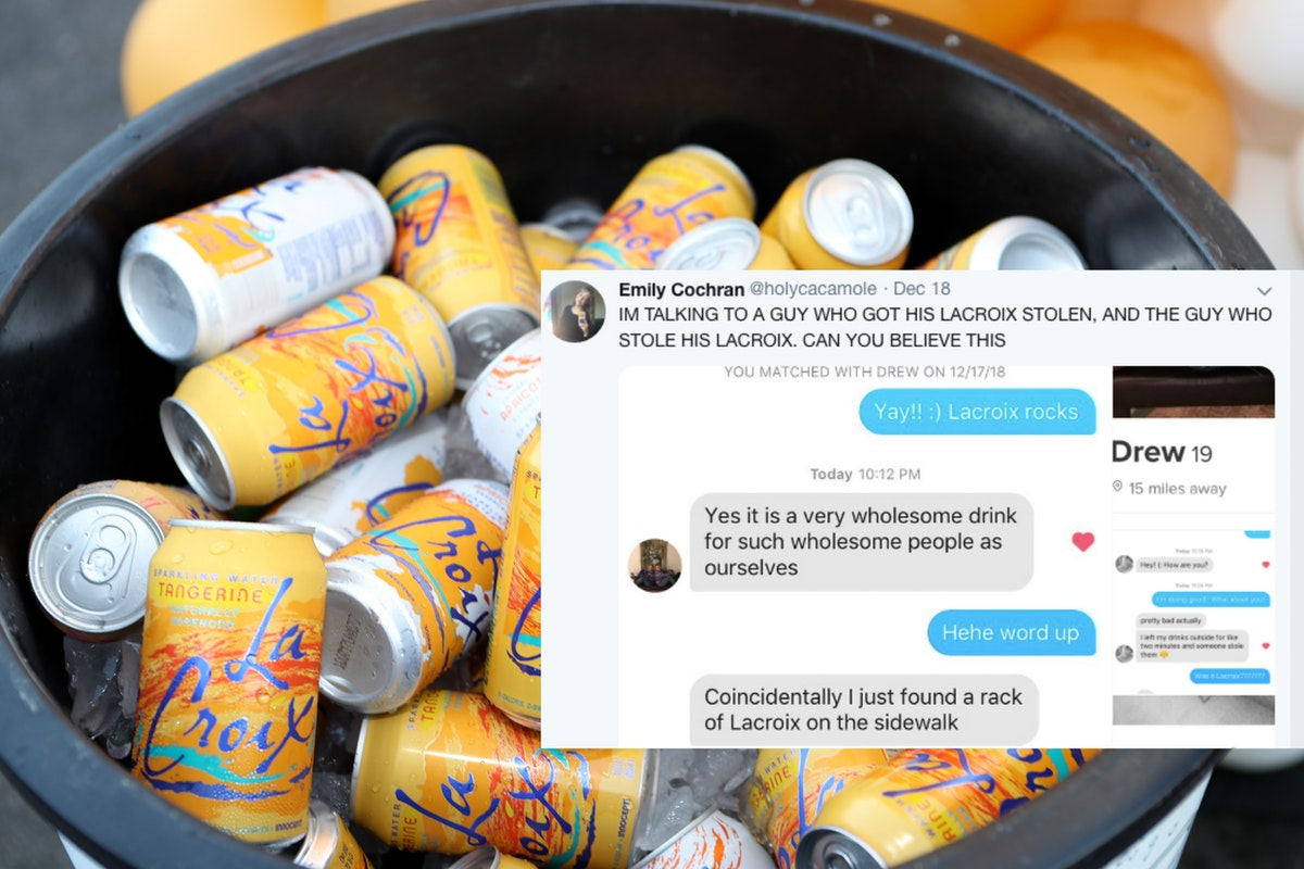 This Tinder User Solved A Missing LaCroix Case Mystery — And Got Two Matches Out Of It