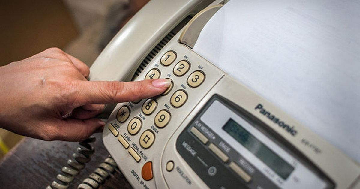 Fax machines are to be banned across the NHS within the next two years