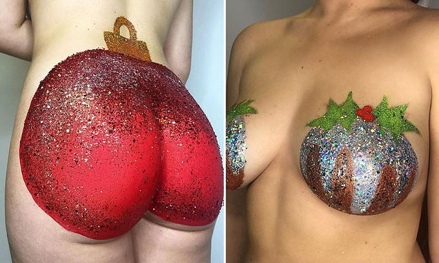 Bauble butts and pudding boobs are the weirdest festive trend EVER