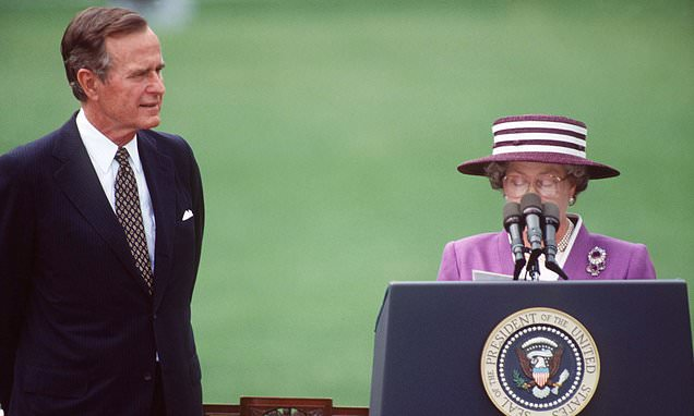 How the late George Bush had a VERY special relationship with Queen