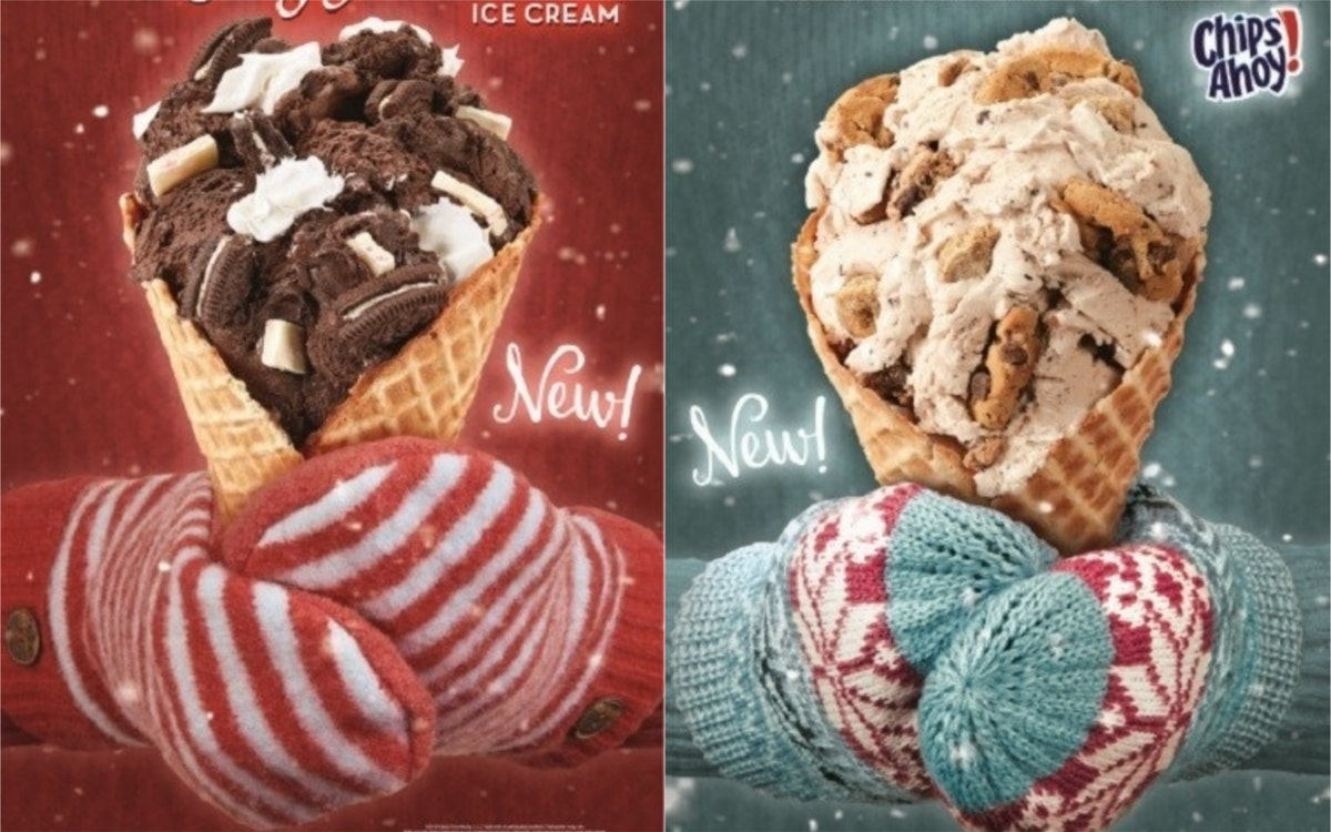 Cold Stone Just Dropped 2 Holiday Flavors With Chips Ahoy & Oreos
