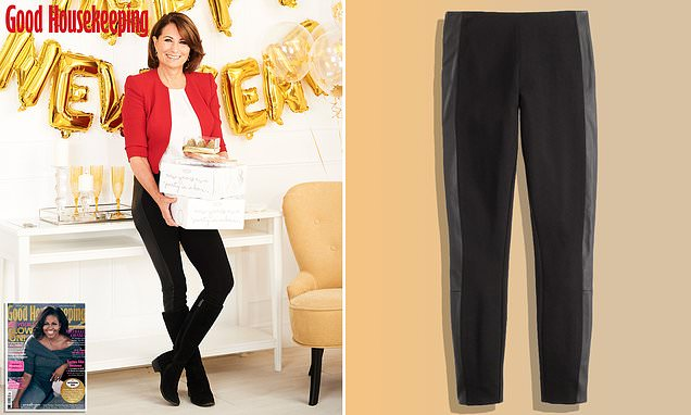 The £80 LEATHER-panelled J.Crew leggings from worn by Carole Middleton