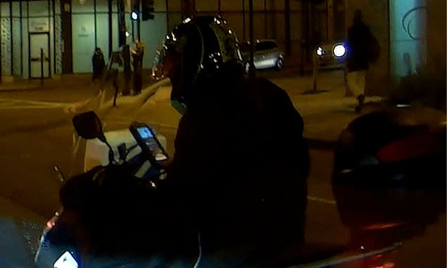 Learner scooter driver caught watching a YouTube video on his phone