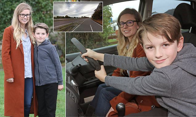 Boy, 8, steers mother's car to safety when she blacks out doing 65mph