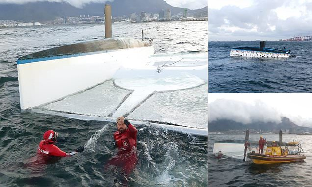 British mother left trapped after catamaran overturn in South Africa