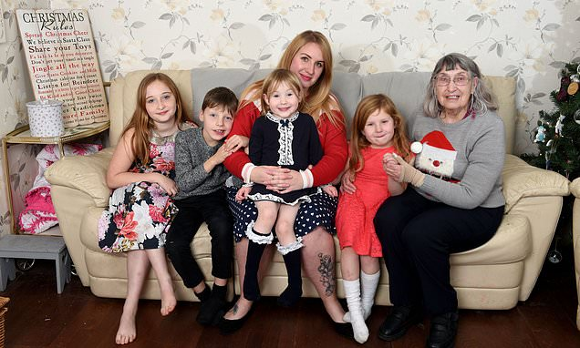 Selfless mother-of-four adopts widow grandmother, 81, for Christmas
