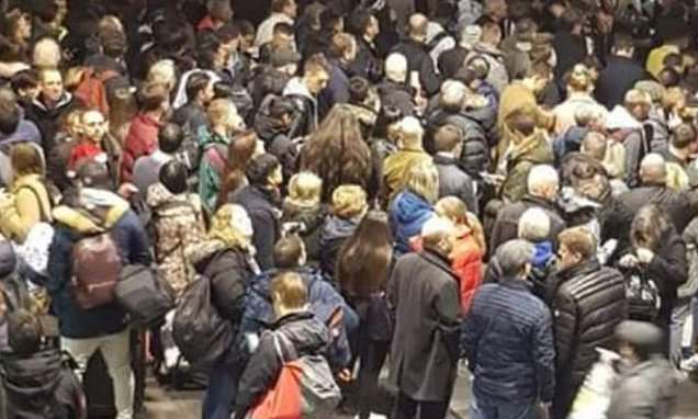 Chaotic scenes at Manchester's Piccadilly station after strike action