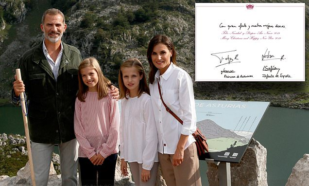 Queen Letizia and King Felipe of Spain release their Christmas card