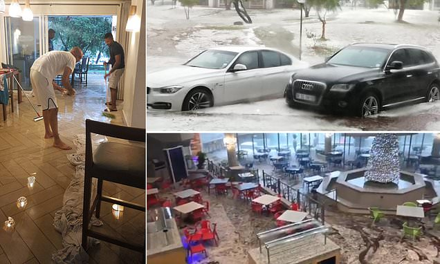 Holidaymakers evacuated from luxury South African resort under floods