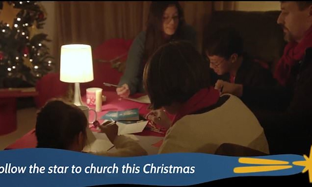 Church of England makes normal families stars of  first festive advert