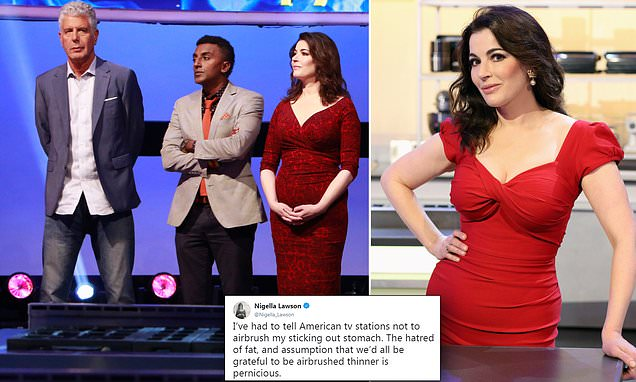 Nigella Lawson reveals she has to tell US TV not to airbrush stomach