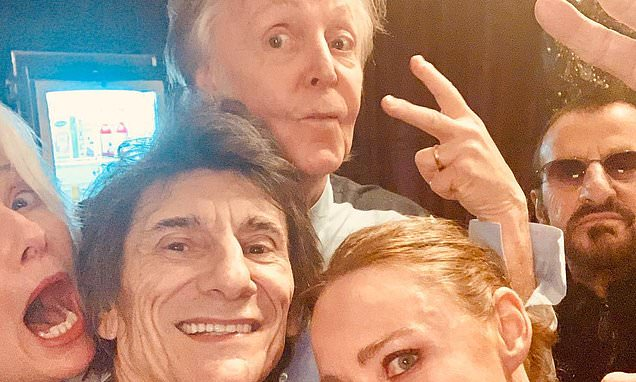Stella McCartney shares photo of dad  Paul with Ronnie and Ringo