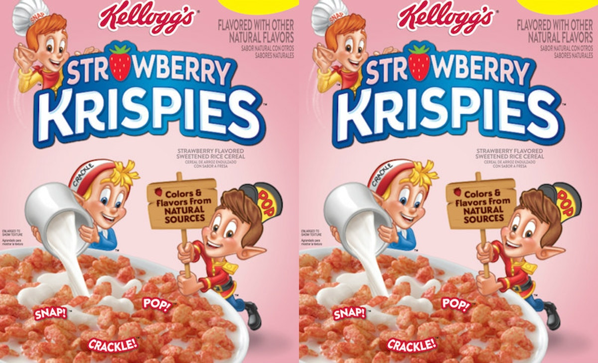 Kellogg's New Strawberry Krispies Are Here To Turn Your Breakfast Millennial Pink