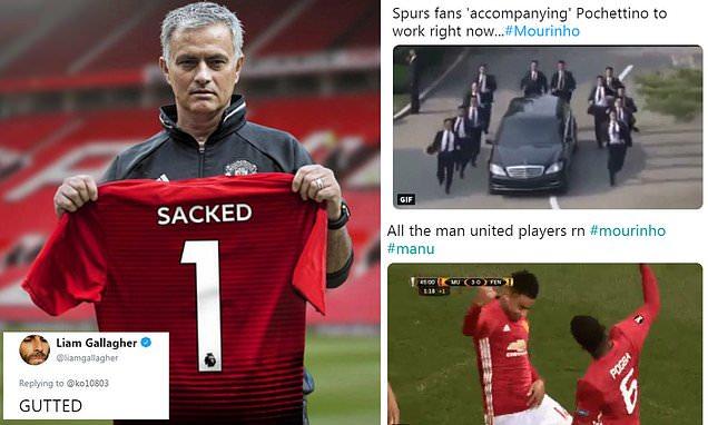 'Finally': Man Utd fans show little sympathy for sacked Jose Mourinho