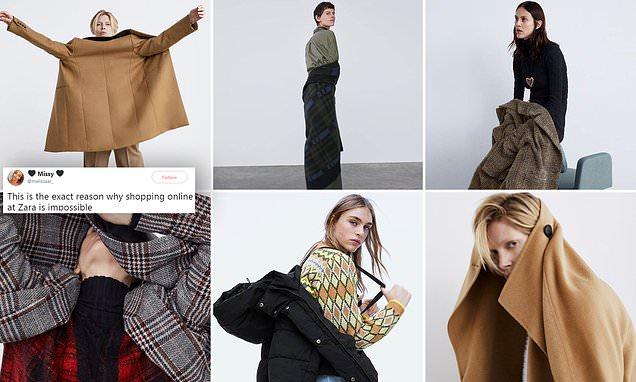 Zara mocked by shoppers as model poses in jacket BACKWARDS