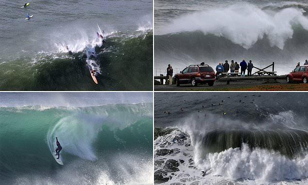 Giant waves pummel Northern California triggering high-surf warnings