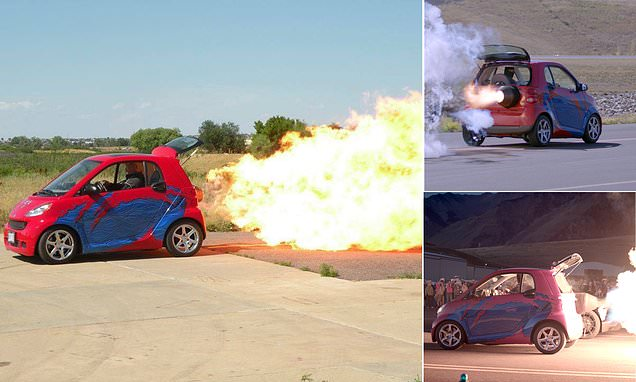 World's first JET-POWERED Smart car can hit speeds of 220mph