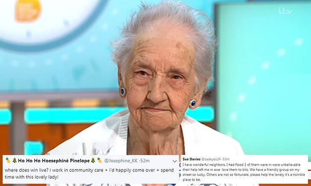 Win Hardy, 89, describes her loneliness as 'hell' on GMB