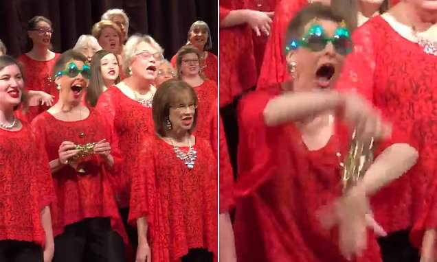 This woman stole the show at her chorus group's Christmas performance