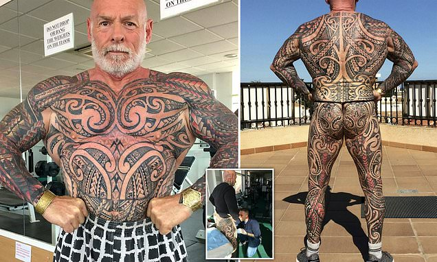 Bodybuilder, 61, has covered entire body after getting delicate tattoo