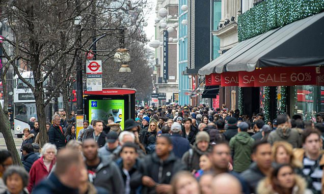 Visits to shops fall by 44MILLION compared to December last year