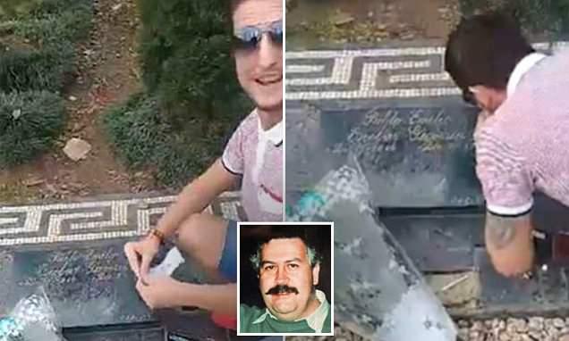 British tourist says Pablo Escobar grave stunt has cost him his family
