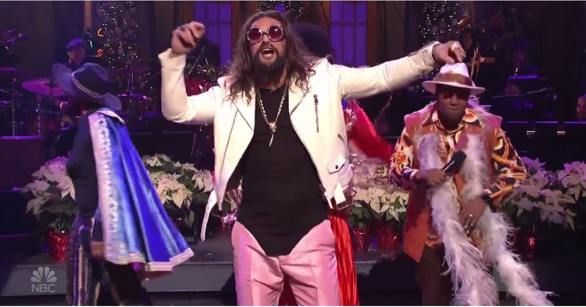 "Jason Momoa Performed Aquaman's ""Theme Song"" on SNL, and a Star Was Born Indeed"