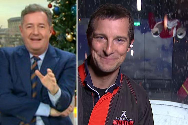 Piers Morgan forced to apologise after exclaiming 'bloody hell' live on GMB after seeing a flying Santa