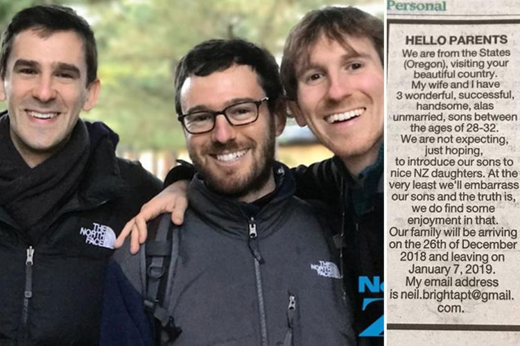 Dad puts out newspaper ad inviting women to meet his 'handsome, single' sons over Christmas… and they have NO idea