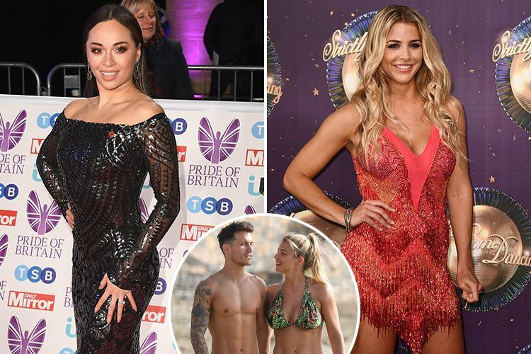 Strictly Come Dancing star Katya Jones' outrageous flirting with hunky Gorka Marquez left his girlfriend Gemma Atkinson fuming