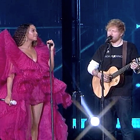 "Try Not To Cry When You Watch Beyonce and Ed Sheeran Perform ""Perfect Duet"" Live Together for the First Time"
