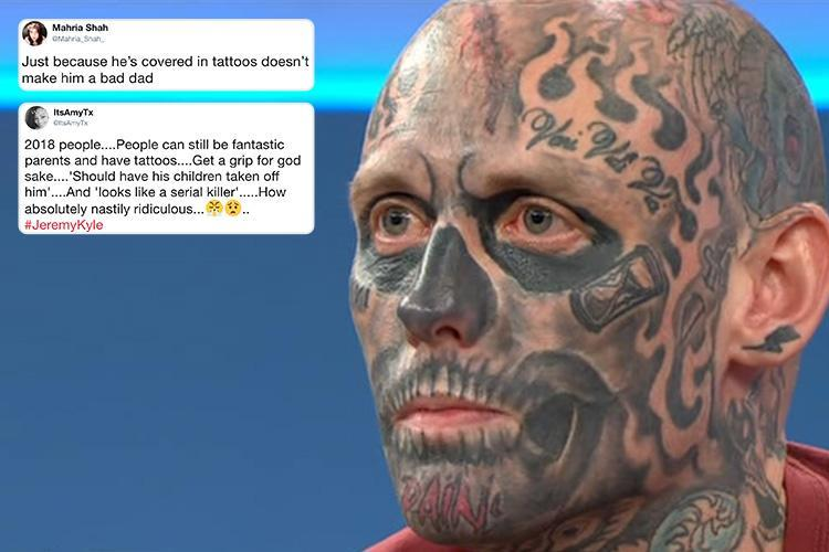 Jeremy Kyle fans defend tattoo-covered guest who was trolled online for being a 'bad dad' because of his inkings