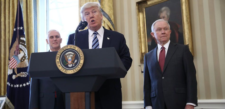 Trump Blames Jeff Sessions For 'Russian Witch Hunt Hoax,' Calls Mueller Probe 'Democrat Scam'