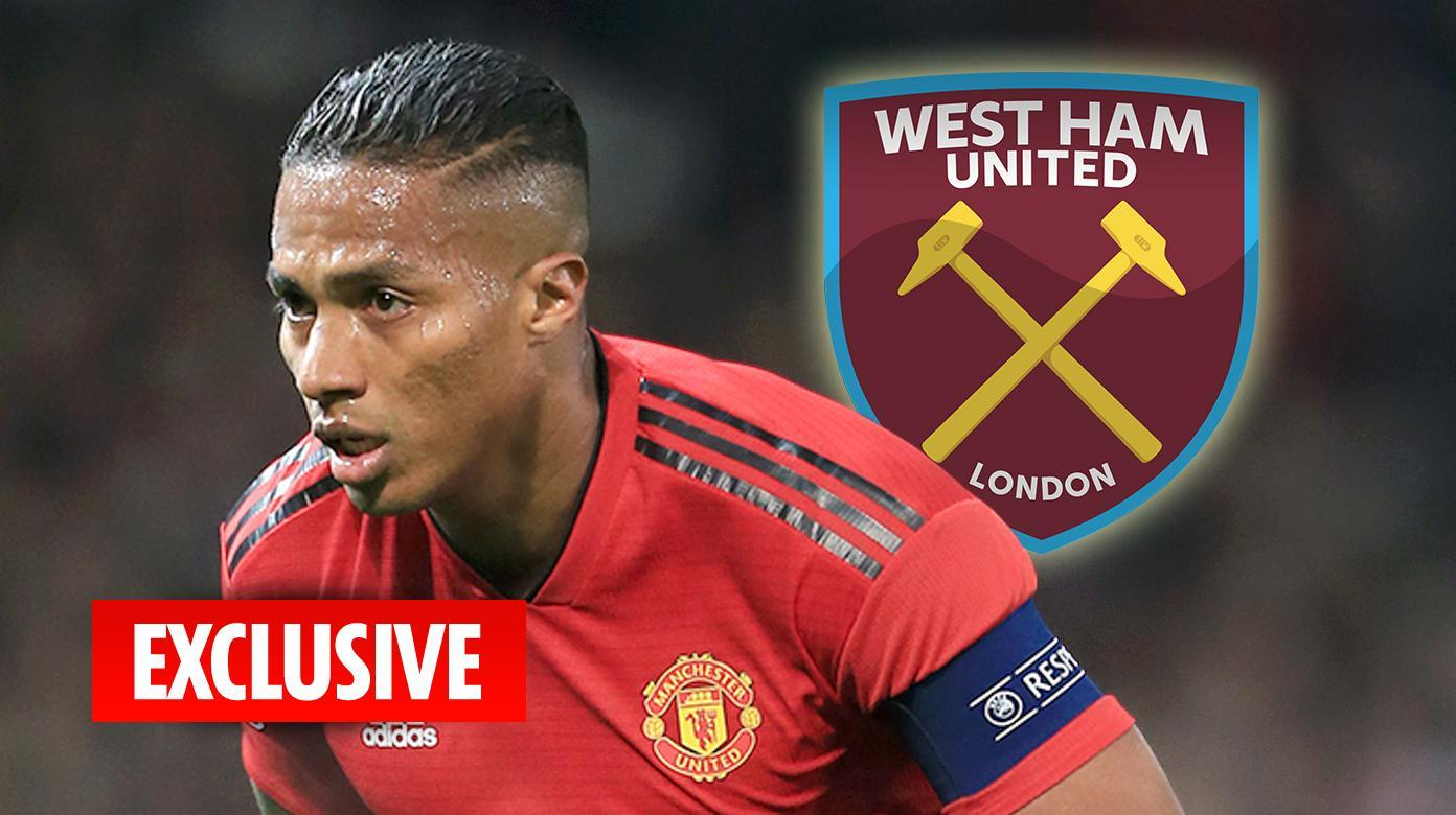 Manchester United star Antonio Valencia wanted by West Ham on free transfer next summer