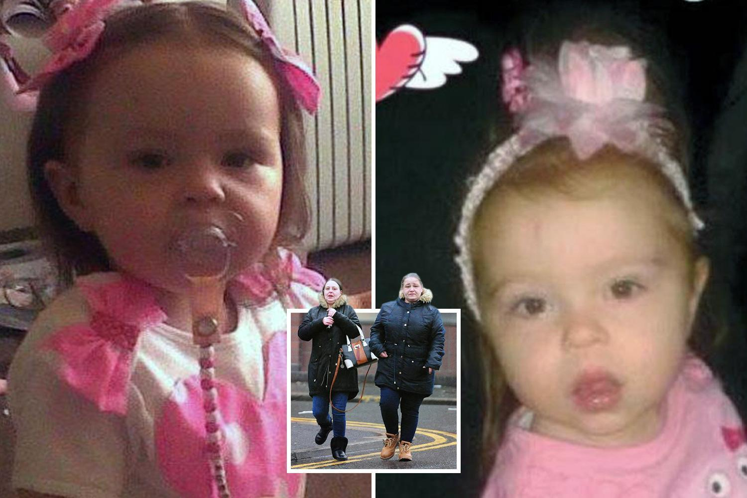 Evil mum and partner guilty of starving two-year-old girl to death in filthy insect-infested flat