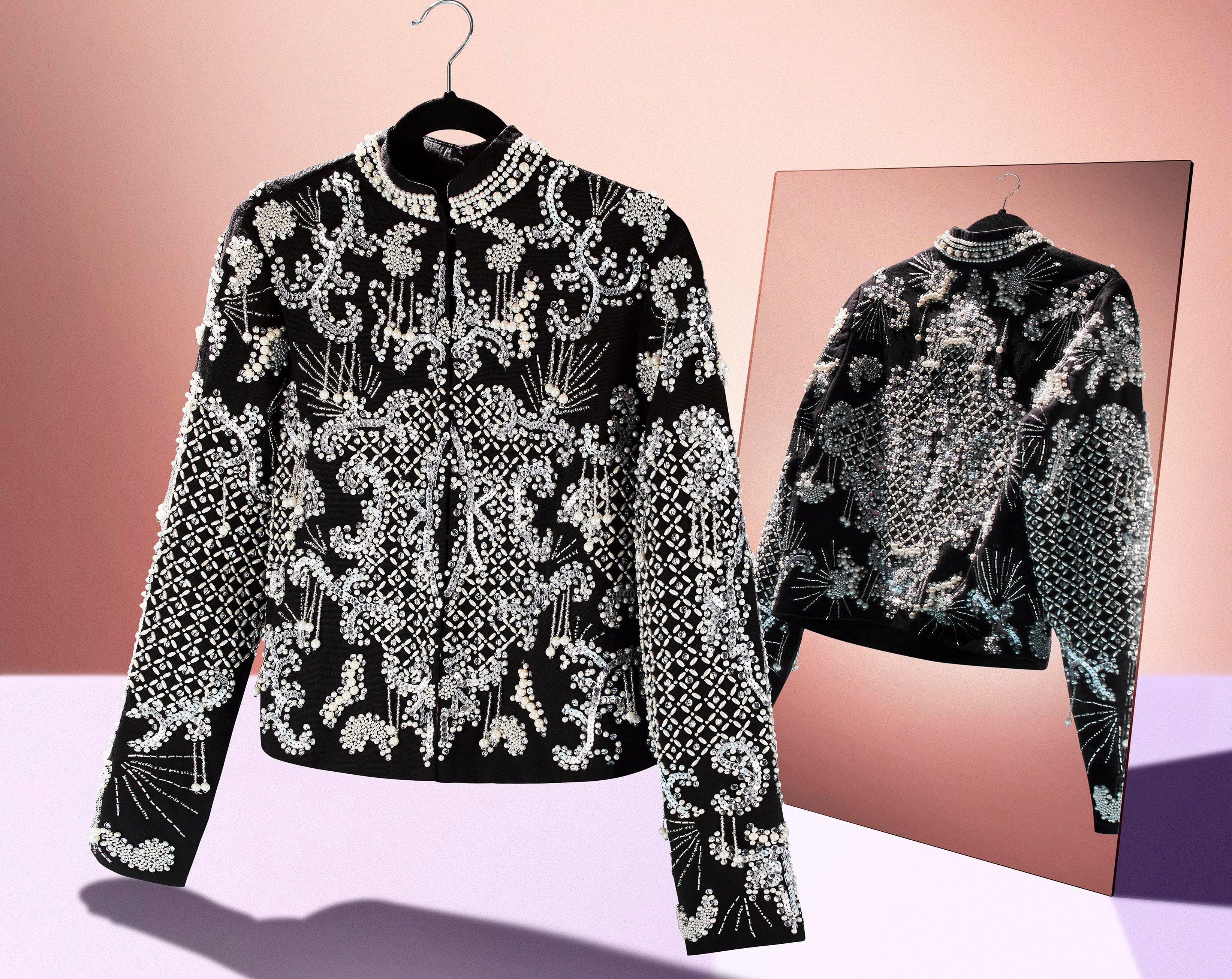 This pearly Asos jacket has soared to the top of our wishlist – and is perfect for Christmas parties